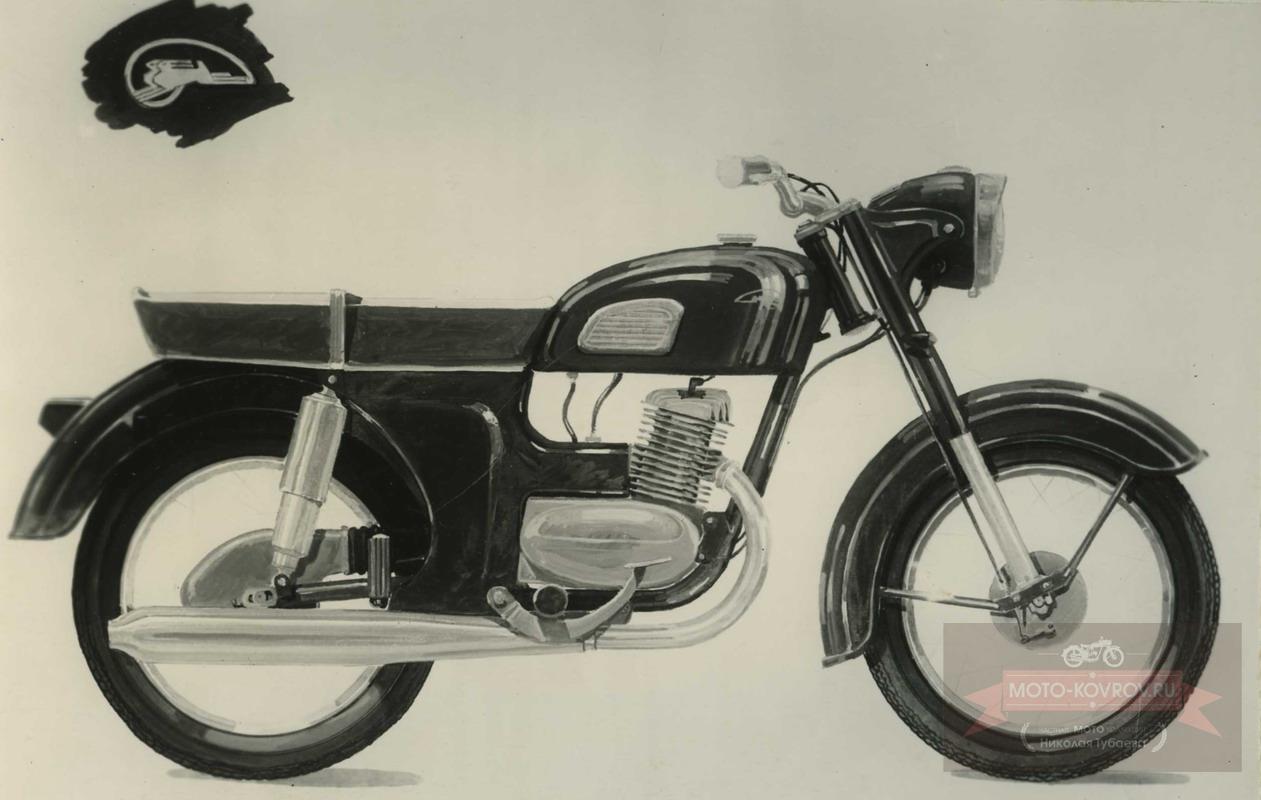 115. Перспект.модель 1962-64гг дорожн.мотоцикл кл.175, Вариант 1