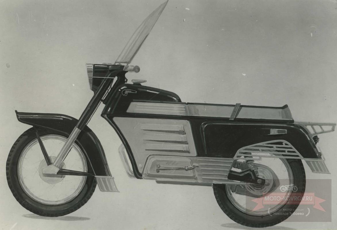116. Перспект.модель 1962-65гг дорожн.мотоцикл кл.175, Вариант 2