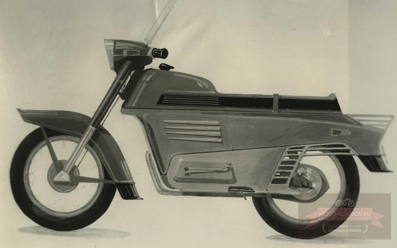 117. Перспект.модель 1962-64гг дорожн.мотоцикл кл.175, Вариант 3