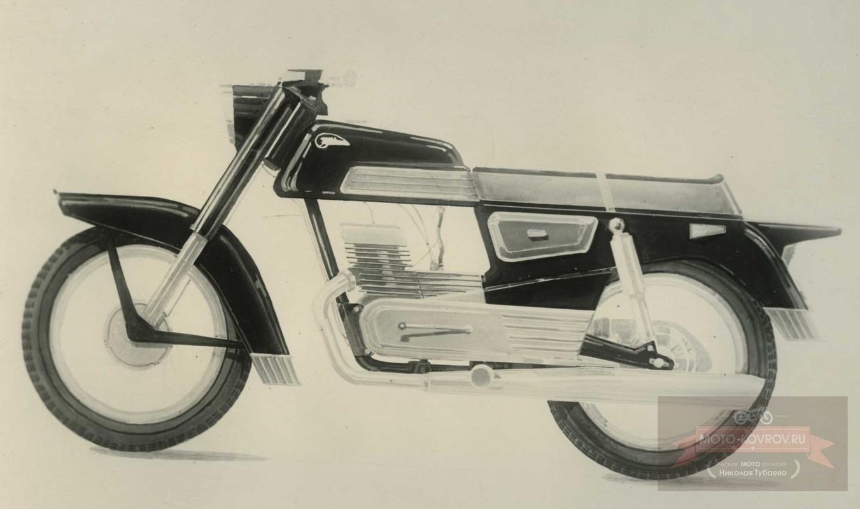 118. Перспект.модель 1962-64гг дорожн.мотоцикл кл.175, Вариант 4