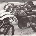 СКУ-5 для заводской команды (под номером один мотоцикл Валерия Аверина с перевёрнутыми трубами вилки