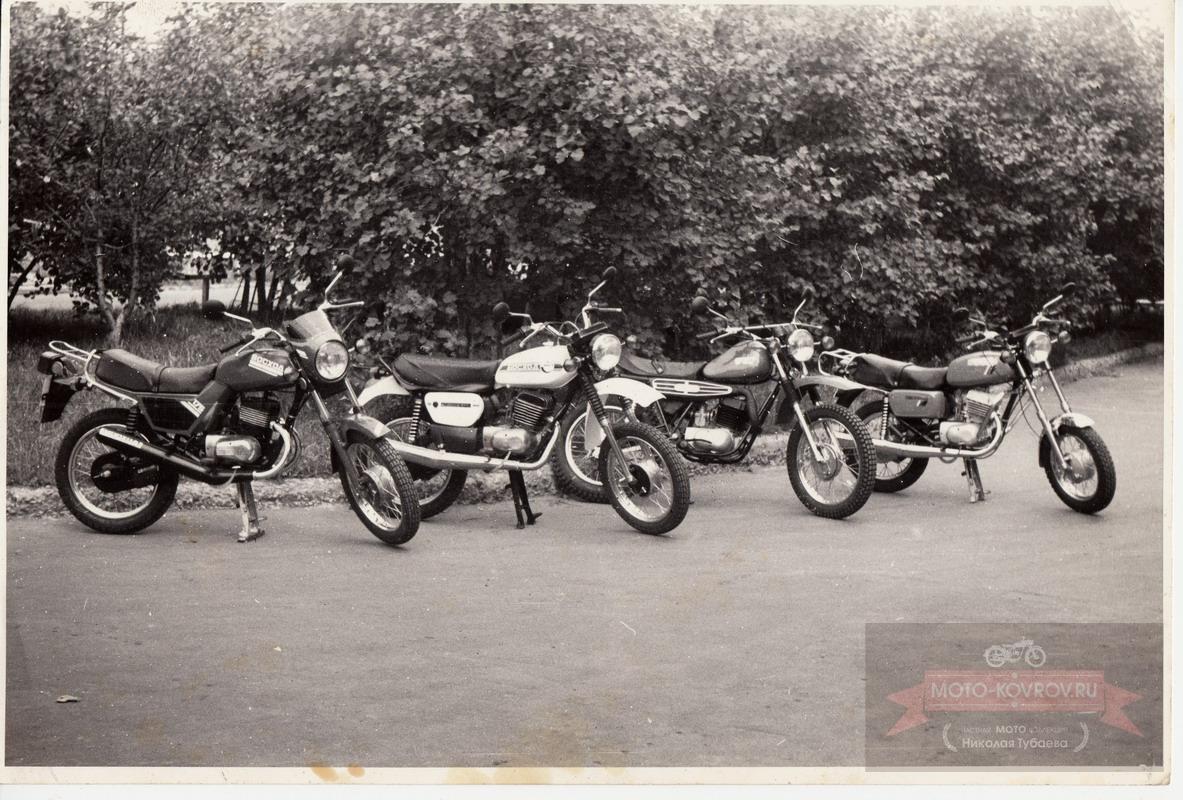 конкурс инициативных творческих групп СКБ руководитель Воркуев С.А. Образцы моделей мотоциклов Восход-175 1987г.ю