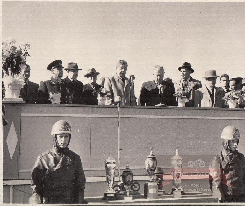 Выступление зам. председателя ДОСААФ СССР тов. Гритчина. 1954г.