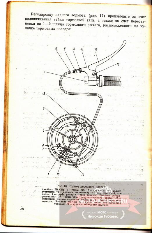 Тормоз переднего колеса