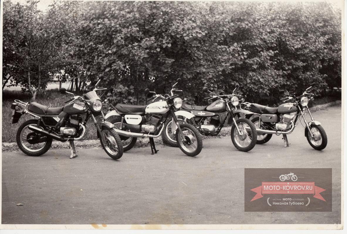 Конкурс инициативных творческих групп СКБ руководитель Воркуев С.А. Образцы моделей мотоциклов Восход-175 1987г.
